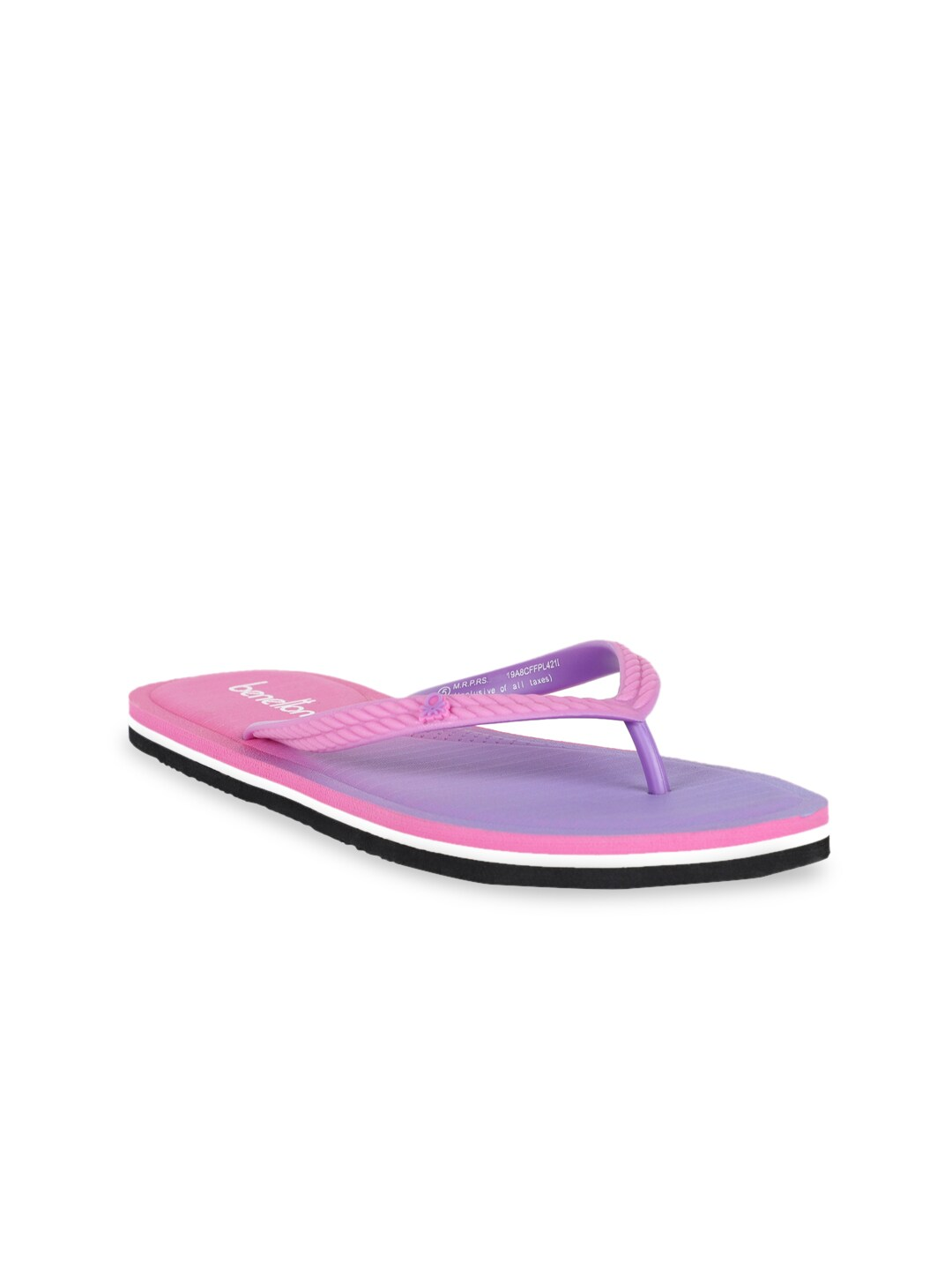 United Colors of Benetton Women Pink & Lavender Ombre Thong Flip-Flops
