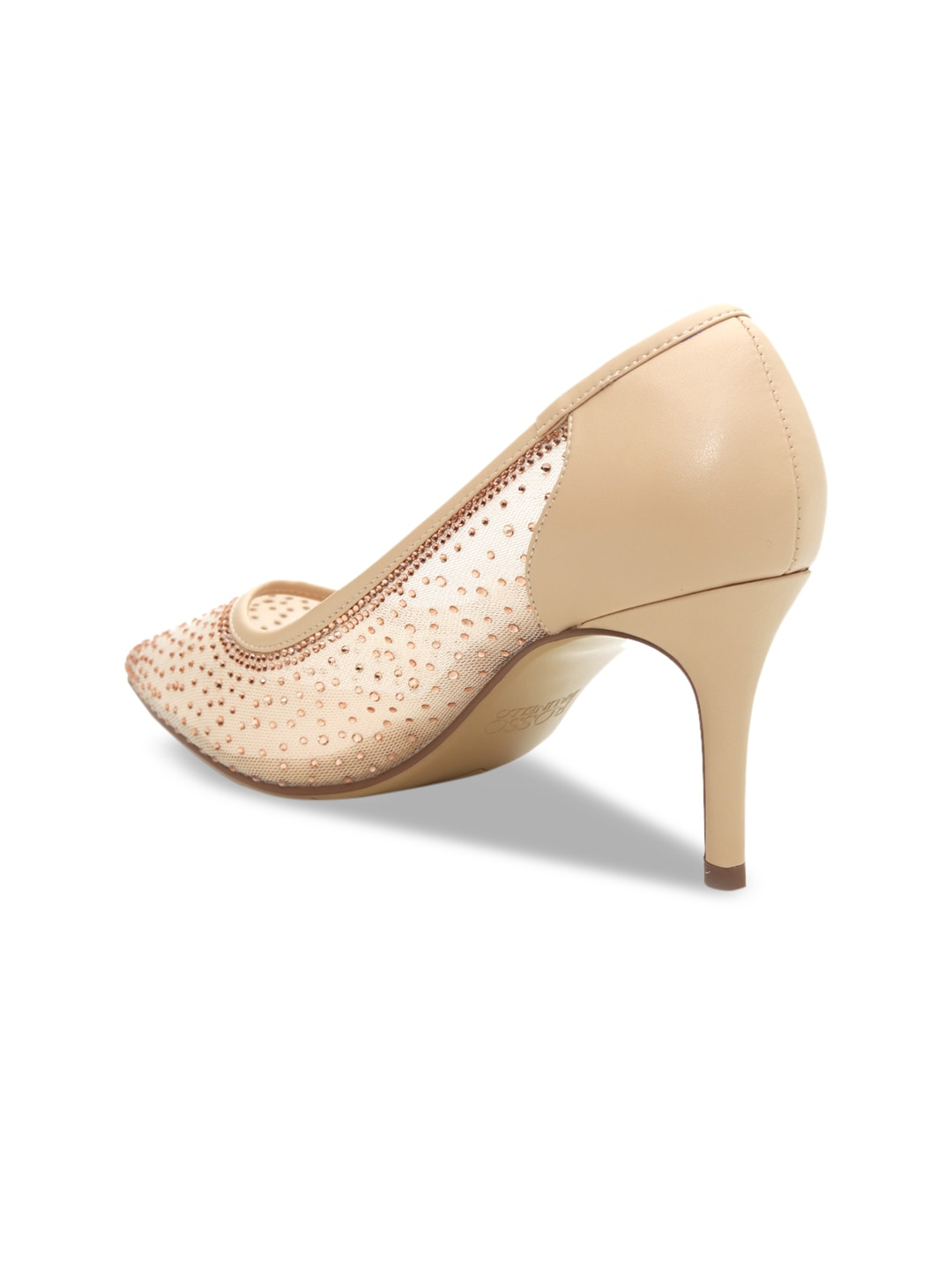 ROSSO BRUNELLO Women Cream-Coloured Embellished Pumps