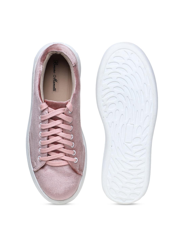 Bruno Manetti Women Pink Sneakers