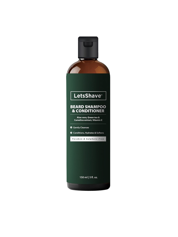 LetsShave Beard Wash Shampoo and Conditioner - Soft Shiny Frizz Free Beard - 150 ml