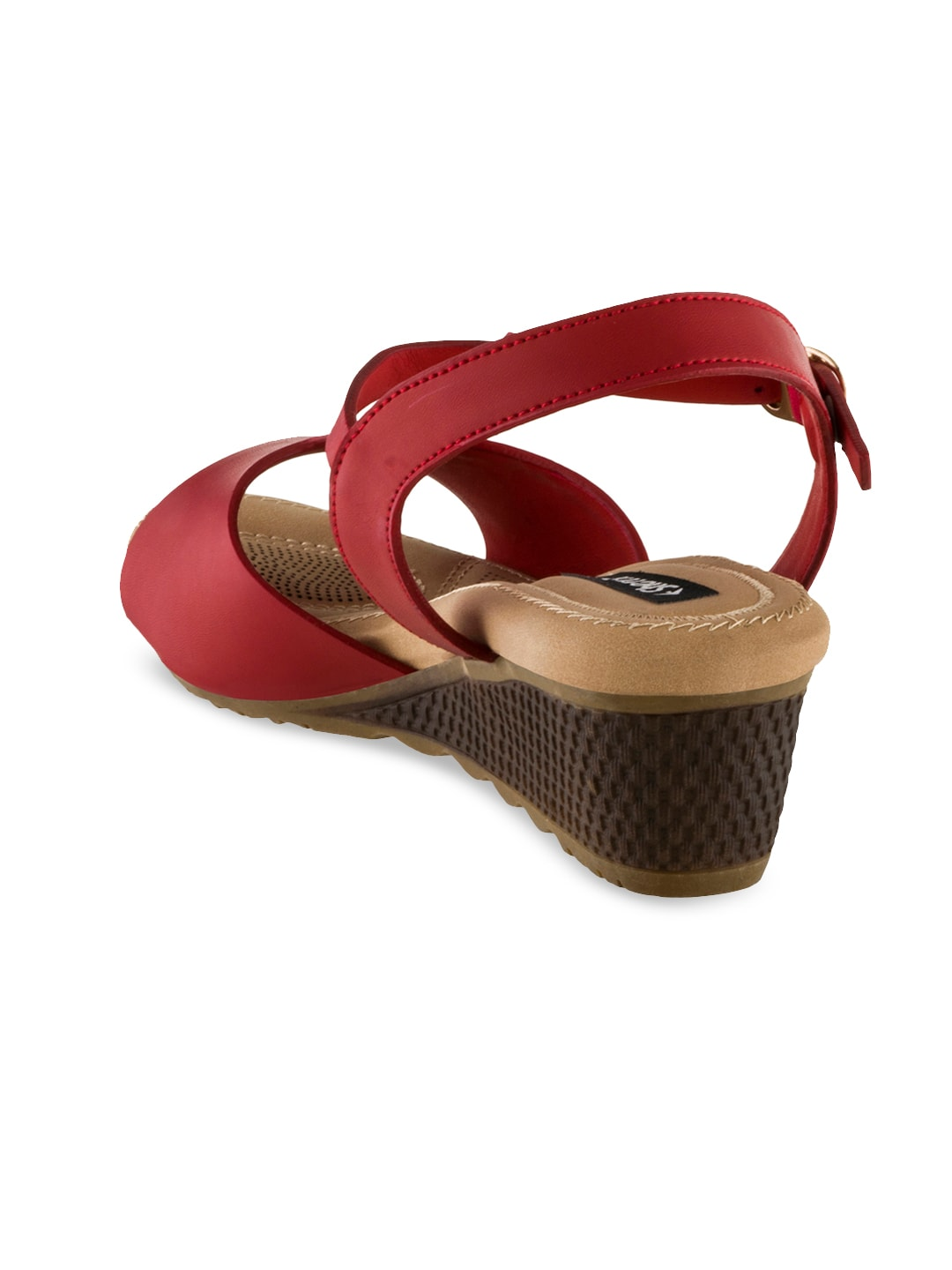 Sherrif Shoes Women Red Solid Sandals