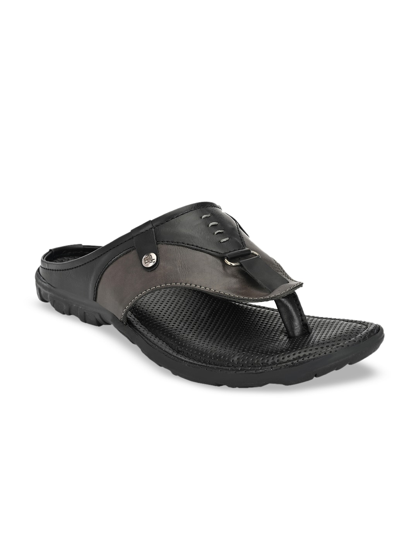 El Paso Men Black Comfort Sandals