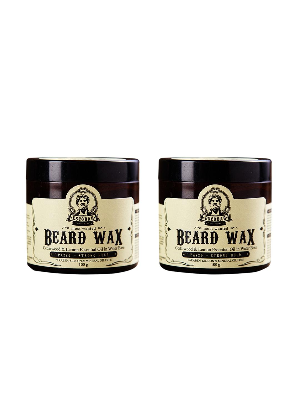 ESCOBAR Men Cream Set of 2 Most Wanted Beard Wax 200 g