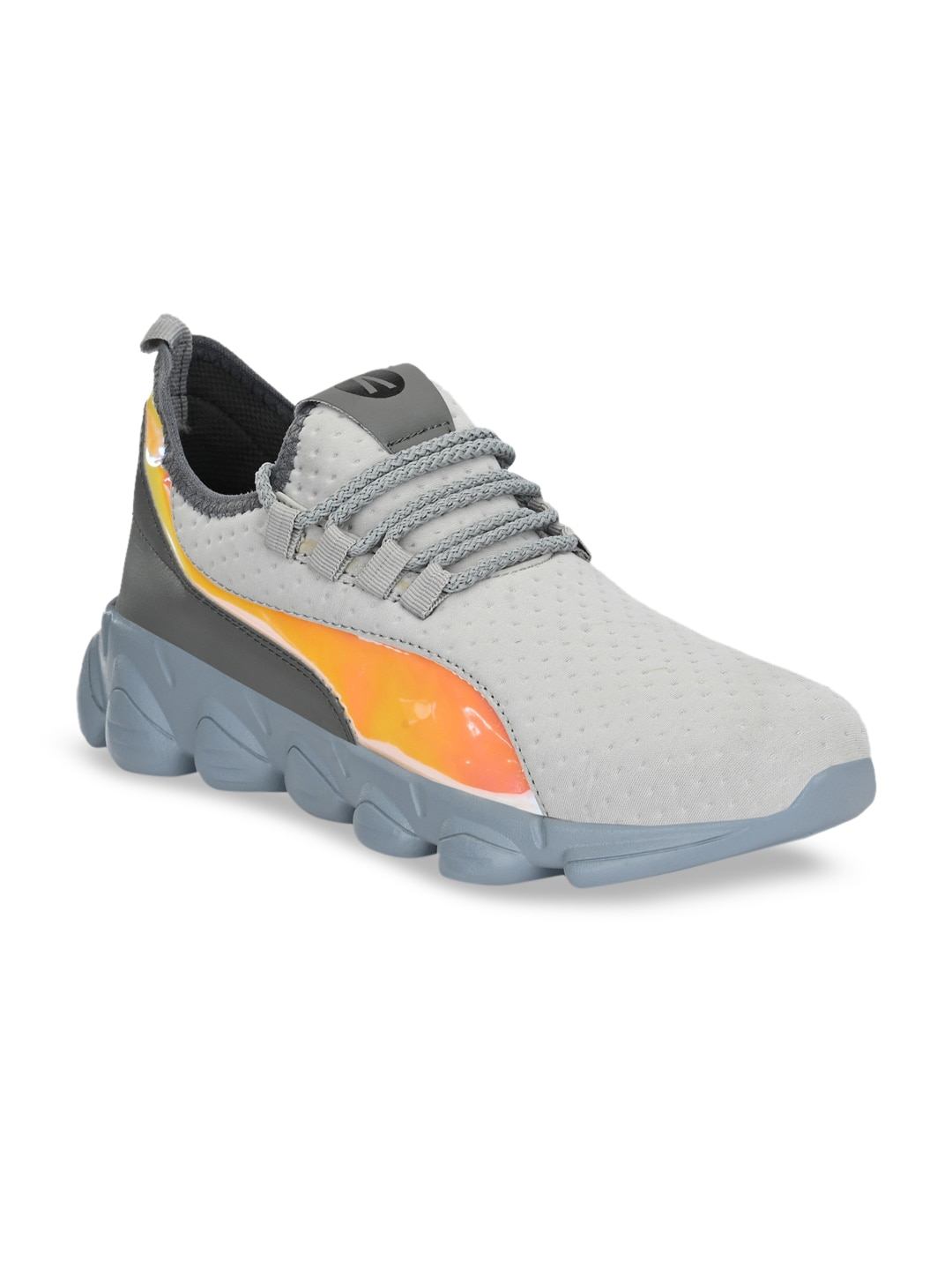 AfroJack Men Grey Solid Training or Gym Shoes