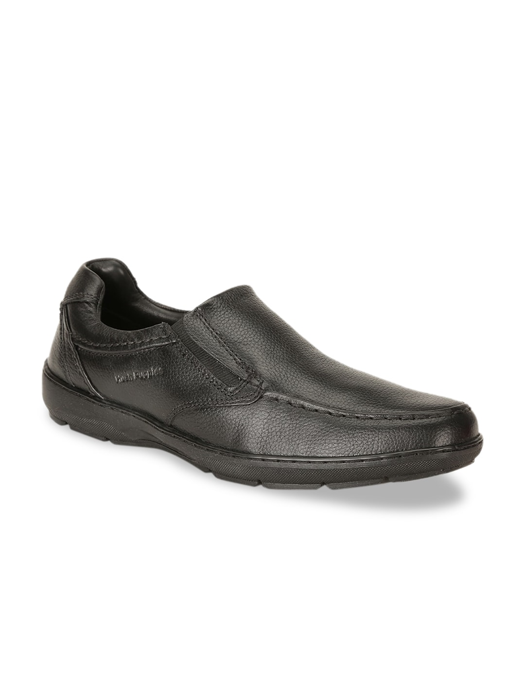 Hush Puppies Men Black Solid Leather Formal Shoes