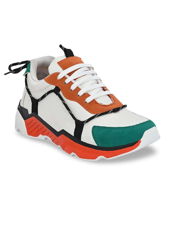 mr wonker Men Multicoloured Colourblocked Sneakers