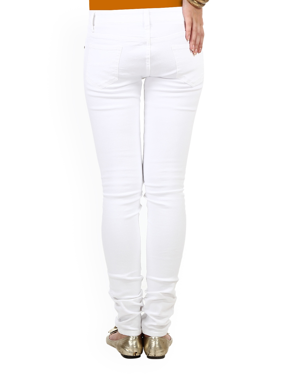 8f6bae6efe3 Buy 20D Women White Slim Fit Jeans 1381805 for online in india on Myntra at  Yebhi.com