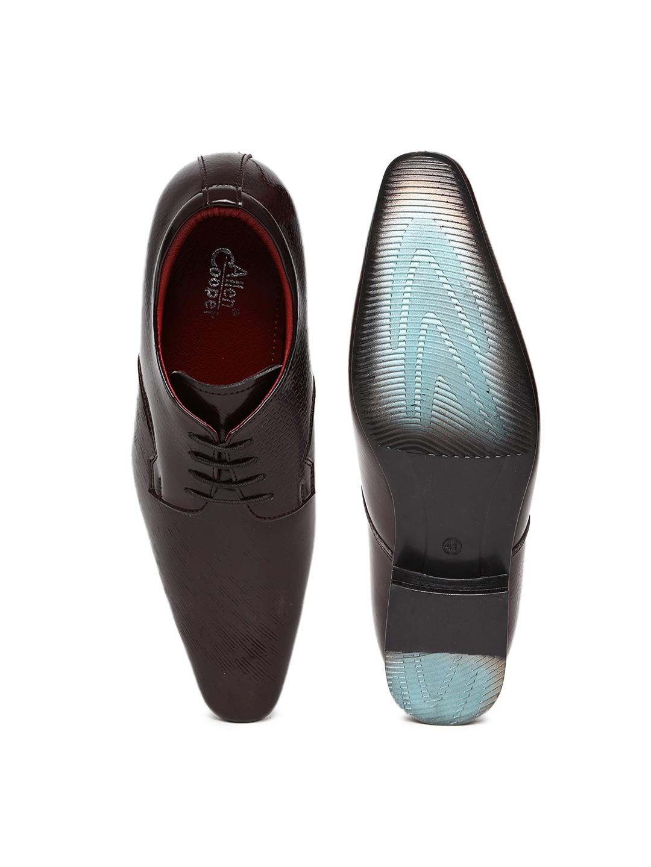 e46099255e06 Buy Allen Cooper Men Brown Leather Formal Shoes 1428875 for men online in  india on Myntra at Yebhi.com