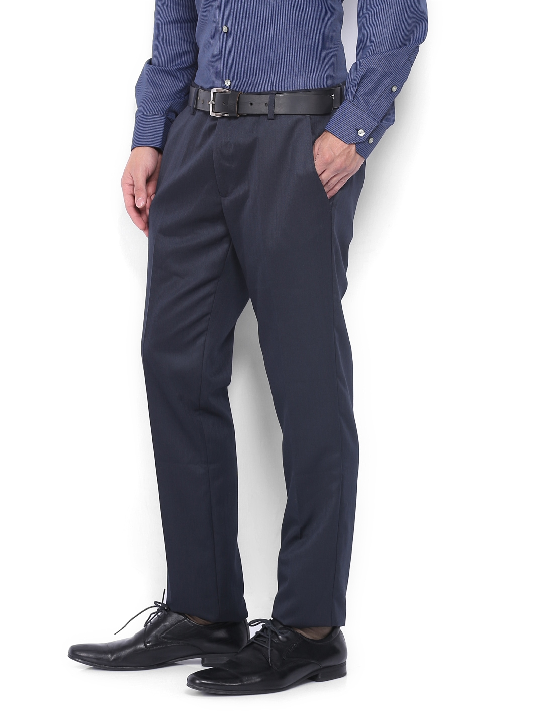 c645b94f1b6 Buy Black Coffee Men Dark Blue Sharp Slim Fit Formal Trousers (multicolor)  1364661 for men online in india on Myntra at Yebhi.com
