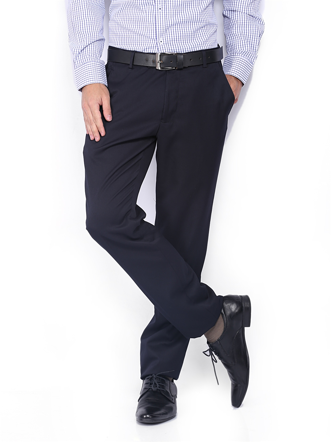 ea6ef50772e Buy Black Coffee Men Black Regular Slim Fit Formal Trousers (multicolor)  1353814 for men online in india on Myntra at Yebhi.com