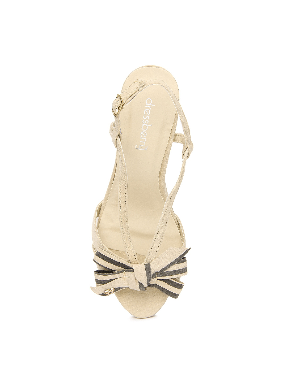 0da4c038479e Buy DressBerry Women Beige Heels 1433087 for women online in india on  Myntra at Yebhi.com