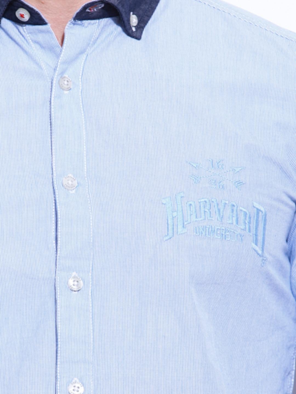 e721dc3dd Buy HARVARD Men Sky Blue & White Slim Fit Scholar Signature Casual Shirt  (multicolor) 6586798 for men online in india on Myntra at Yebhi.com