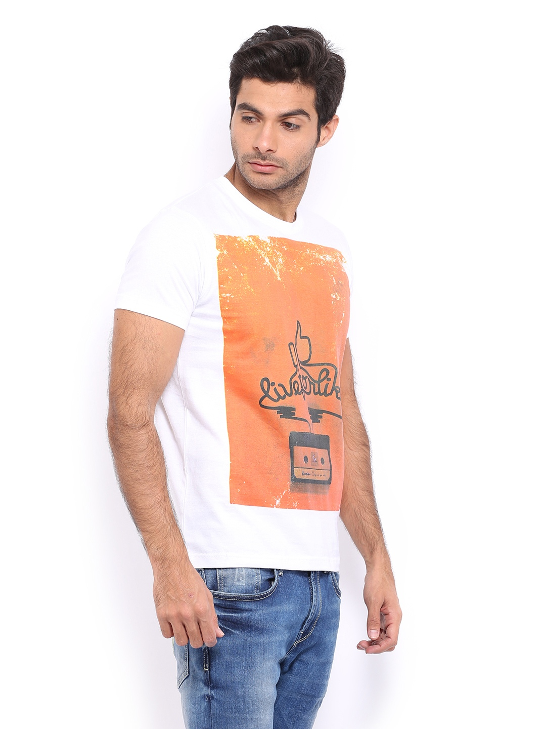 Design your t shirt myntra - Buy Myntra Men White Printed T Shirt Multicolor 1383917 For Men Online In India On Myntra At Yebhi Com