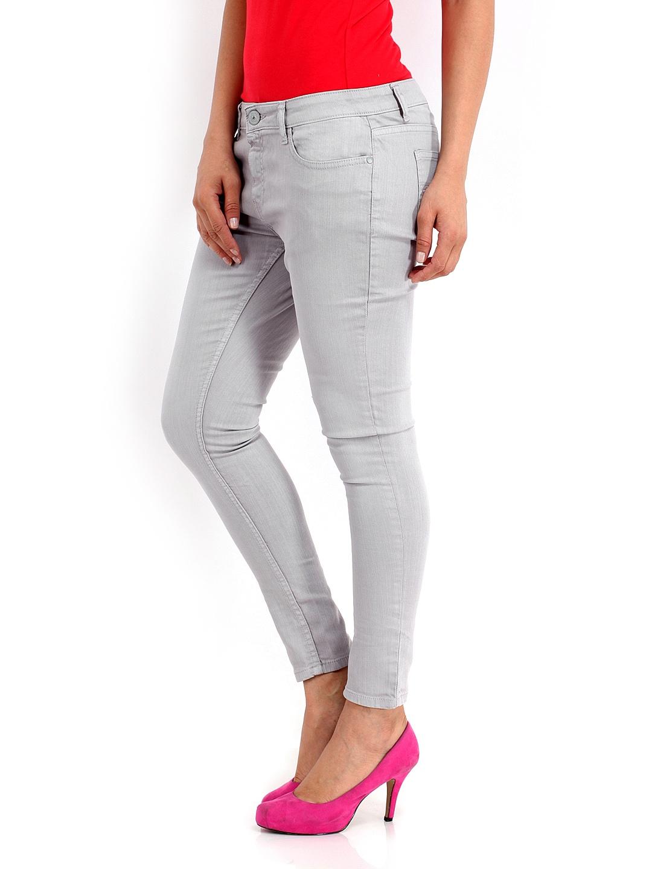 c5167682549b3 Buy Jealous 21 Women Grey Hottie Ultra Slim Fit AnkleLength Jeans 1400141  for women online in india on Myntra at Yebhi.com