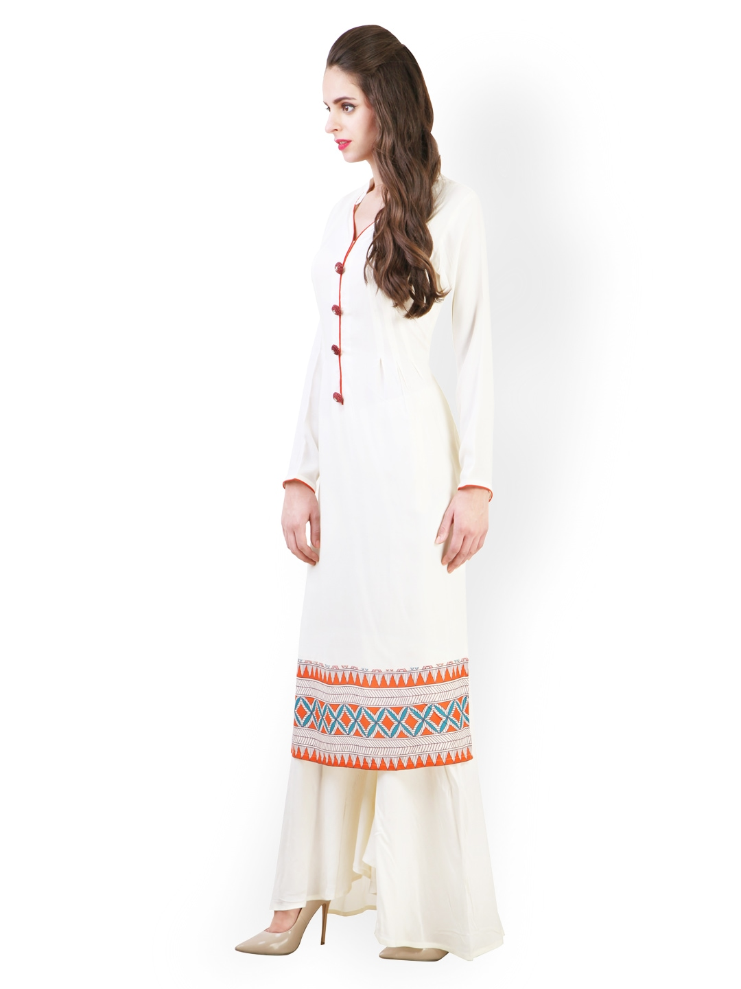 de6f2ac7c5 Buy Libas Women Cream-Coloured Salwar Kurta (yellow) 1403787 for ...