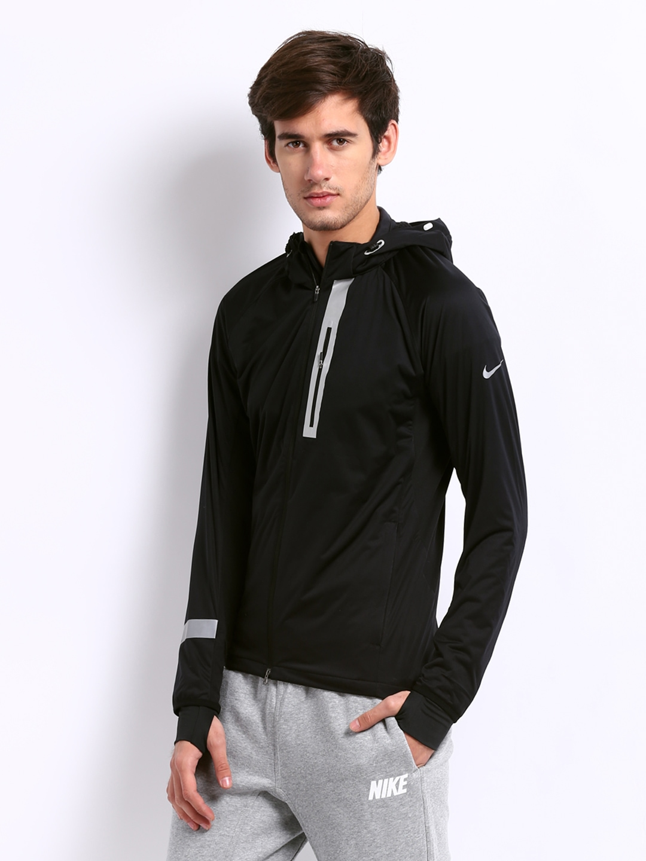 Nike element jacket men's - Buy Nike Black Element Shield Max Running Jackets 1433576 For Men Online In India On Myntra At Yebhi Com