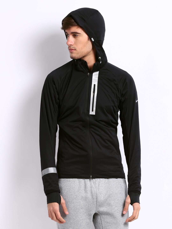 Nike element jacket men's - Nike Black Element Shield Max Running Jackets