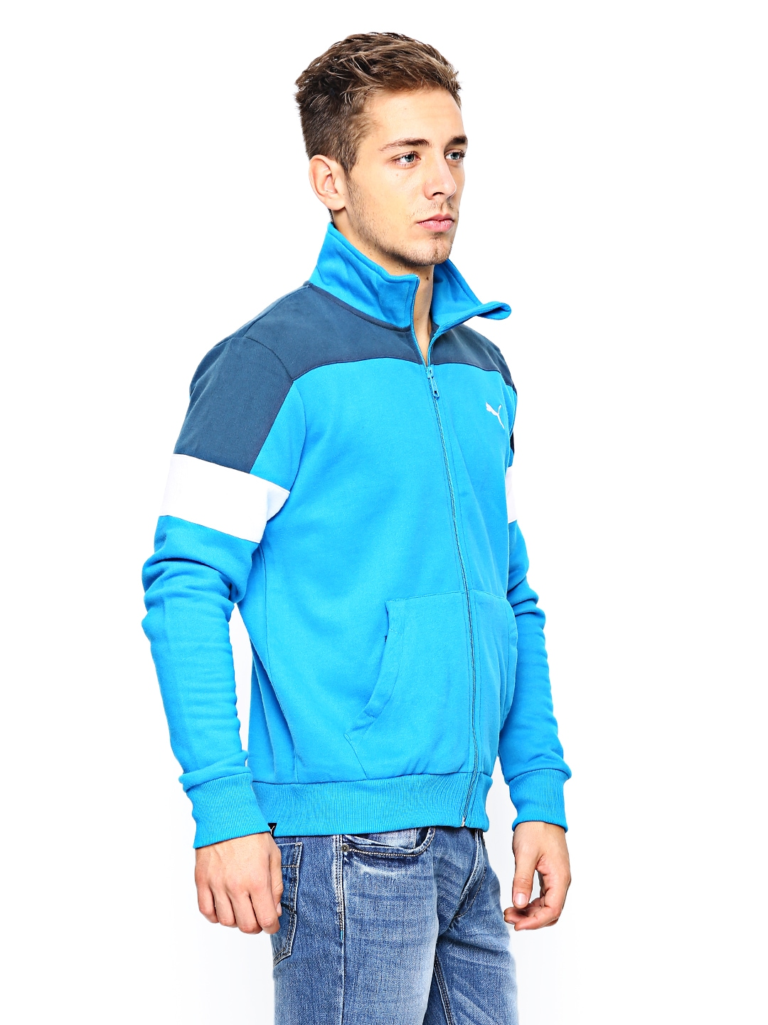 d80a43419938 Buy Puma Men Blue Sports Jacket 8796988 for men online in india on Myntra  at Yebhi.com