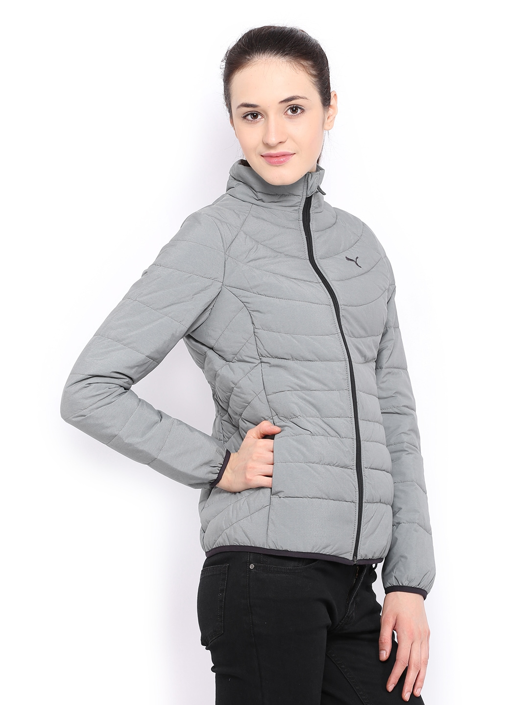 3face37aa01a Buy Puma Women Grey Padded Jacket 1334310 for women online in india on  Myntra at Yebhi.com