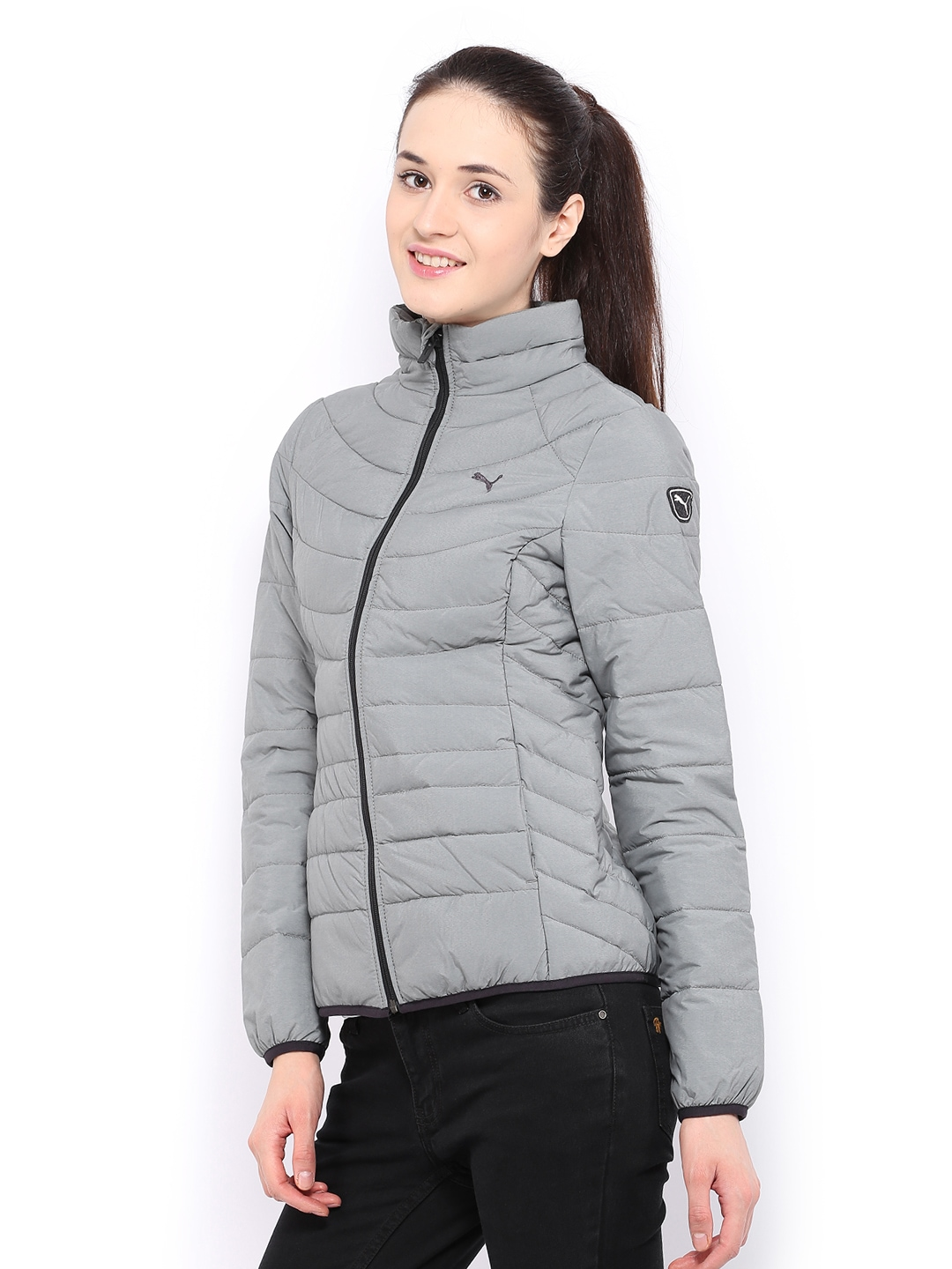 21bd9f75cb92 Buy Puma Women Grey Padded Jacket 1334310 for women online in ...