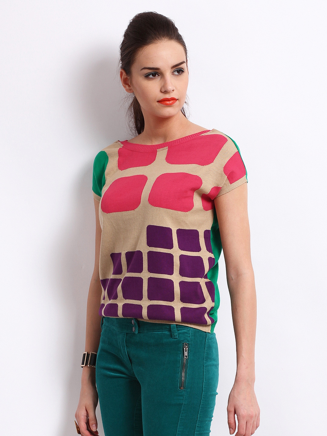 Buy United Colors Of Benetton Women Multi-Coloured Sweater (multicolor)  1450614 for women online in india on Myntra at Yebhi.com 8471dff9a