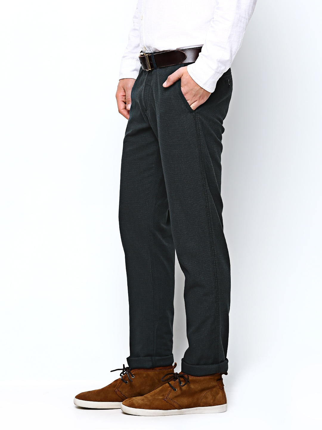 cf0ba34dcfa Buy United Colors of Benetton Men Grey Casual Trousers 8224825 for online  in india on Myntra at Yebhi.com