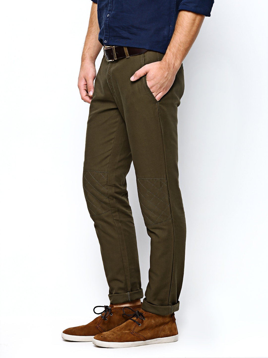 ca0a72067 Buy United Colors of Benetton Men Olive Green Casual Trousers (multicolor)  8251869 for men online in india on Myntra at Yebhi.com
