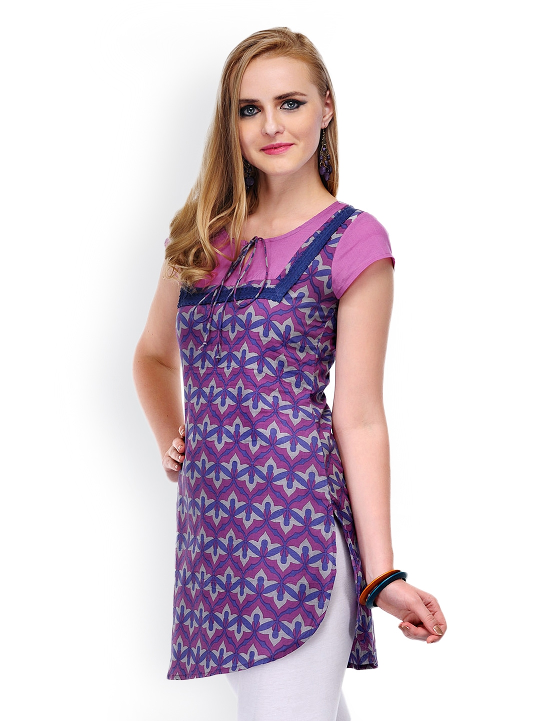 e0717f425386a Buy Yepme Women Purple Printed Kurti (violet) 8794788 for women online in  india on Myntra at Yebhi.com