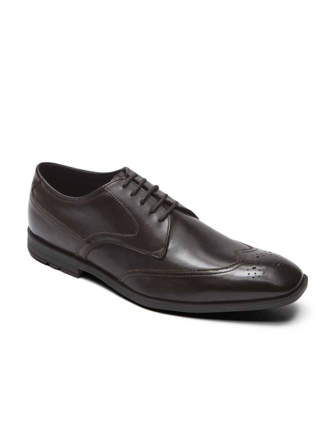 rockport brown leather formal shoes