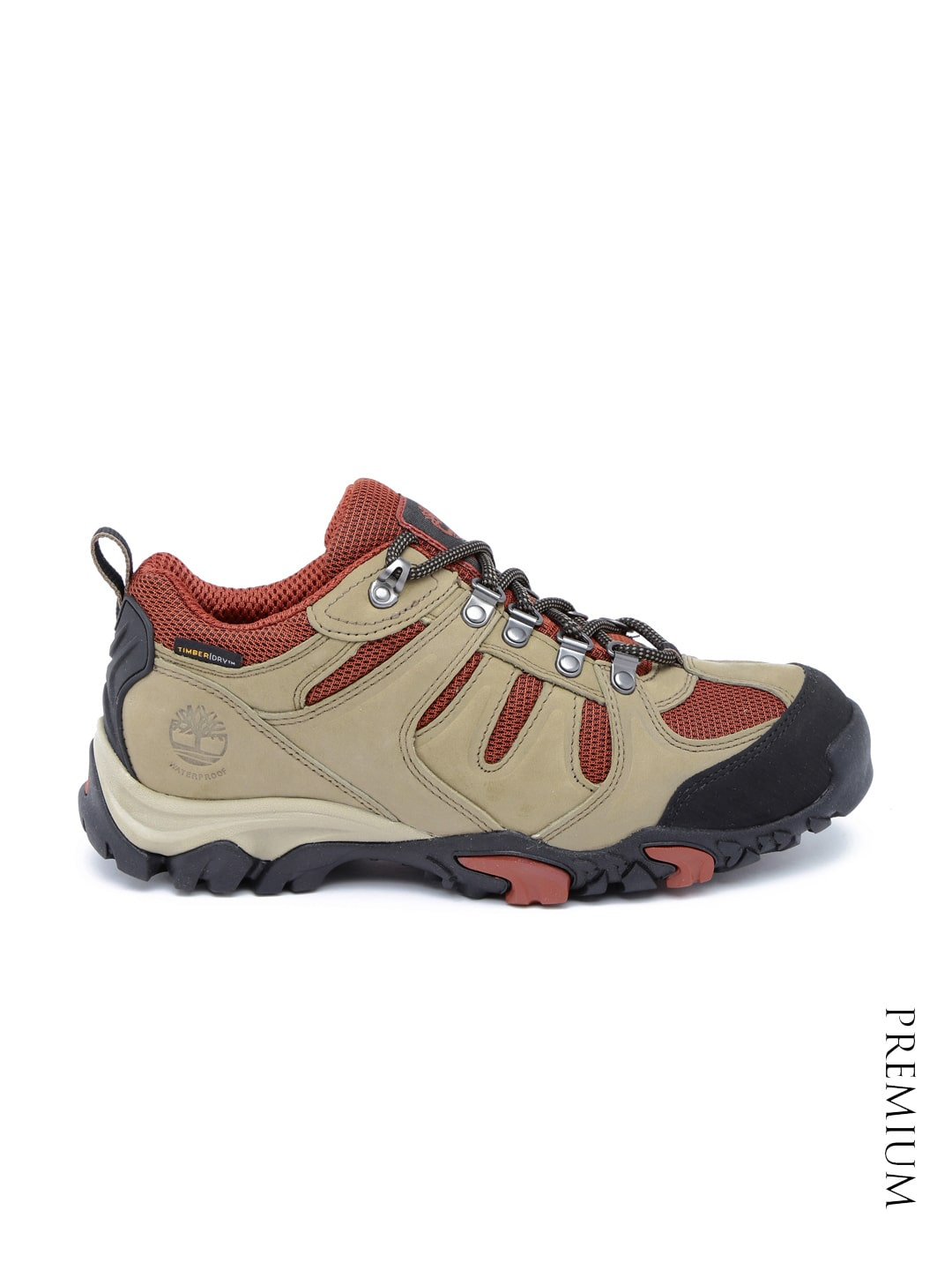 Timberland Men Brown And Red Mt Adams Waterproof Leather Boo