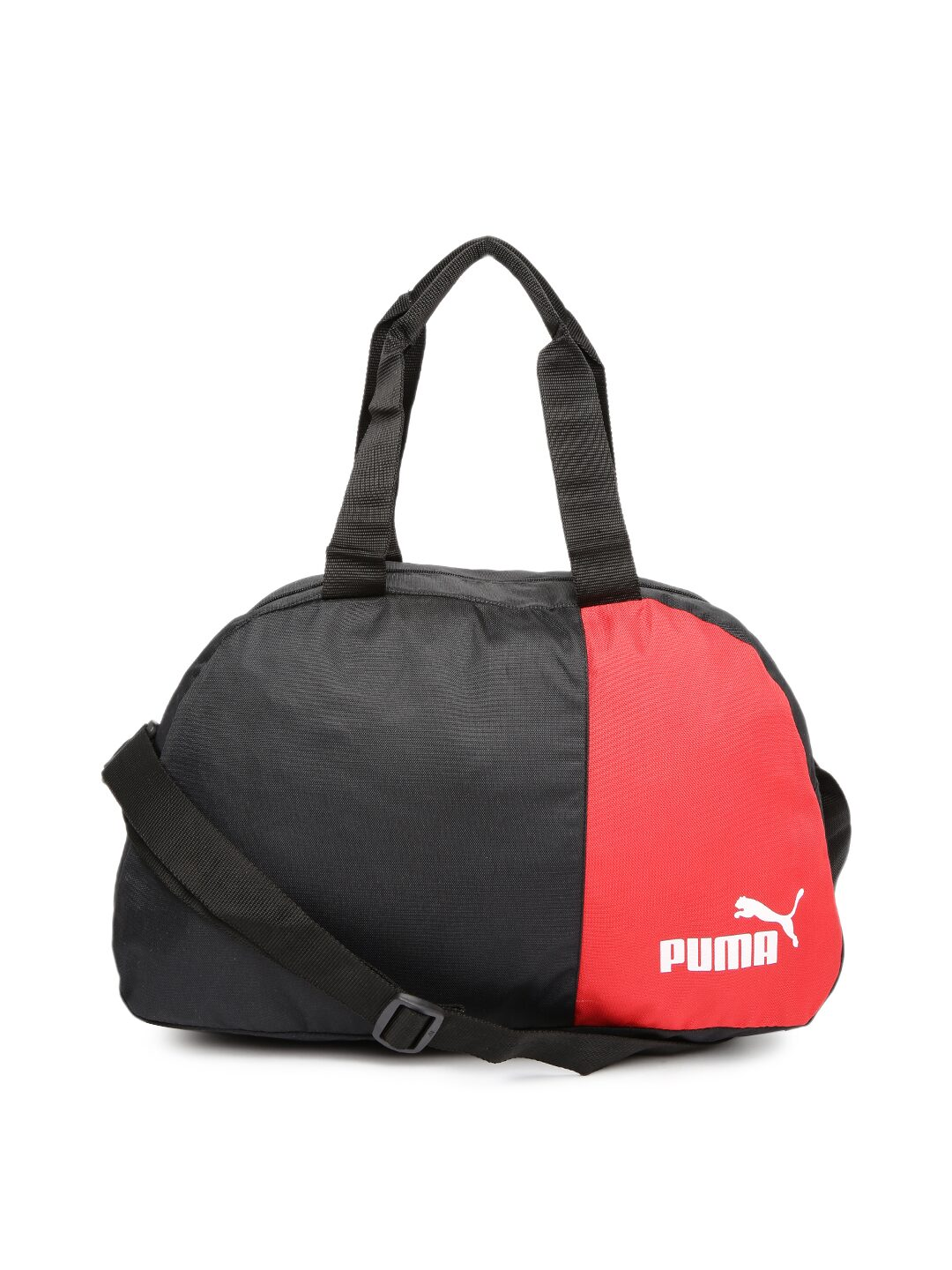 Puma Unisex Black And Red Duffle Bag