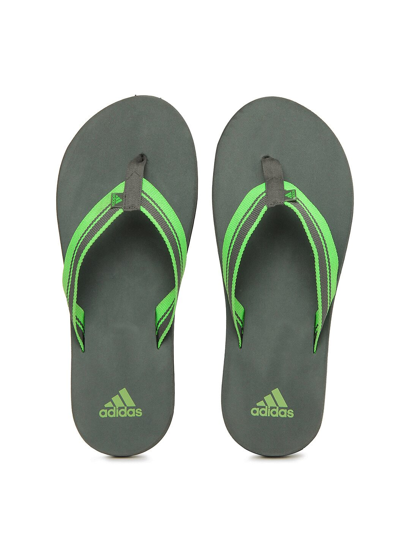 adidas men green and grey adze flip flops. Black Bedroom Furniture Sets. Home Design Ideas
