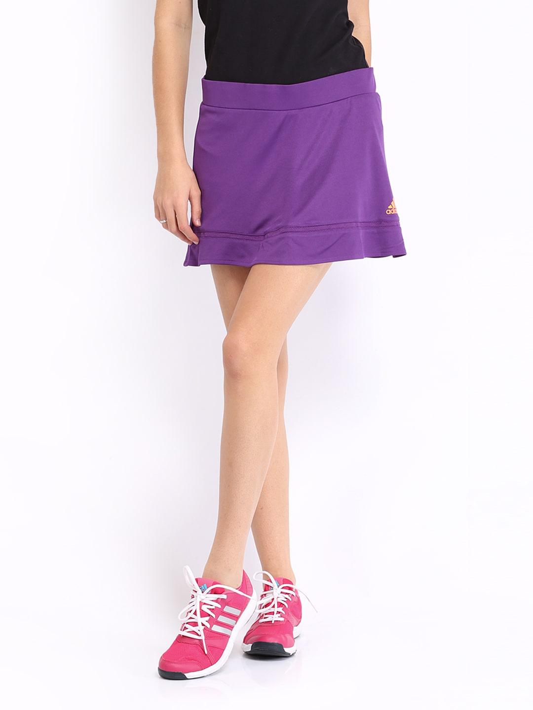 adidas tennis skort purple