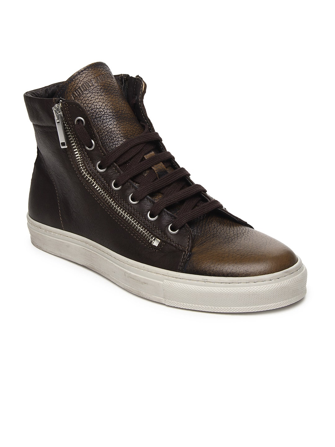 antony morato vintage men brown ankle sneakers. Black Bedroom Furniture Sets. Home Design Ideas