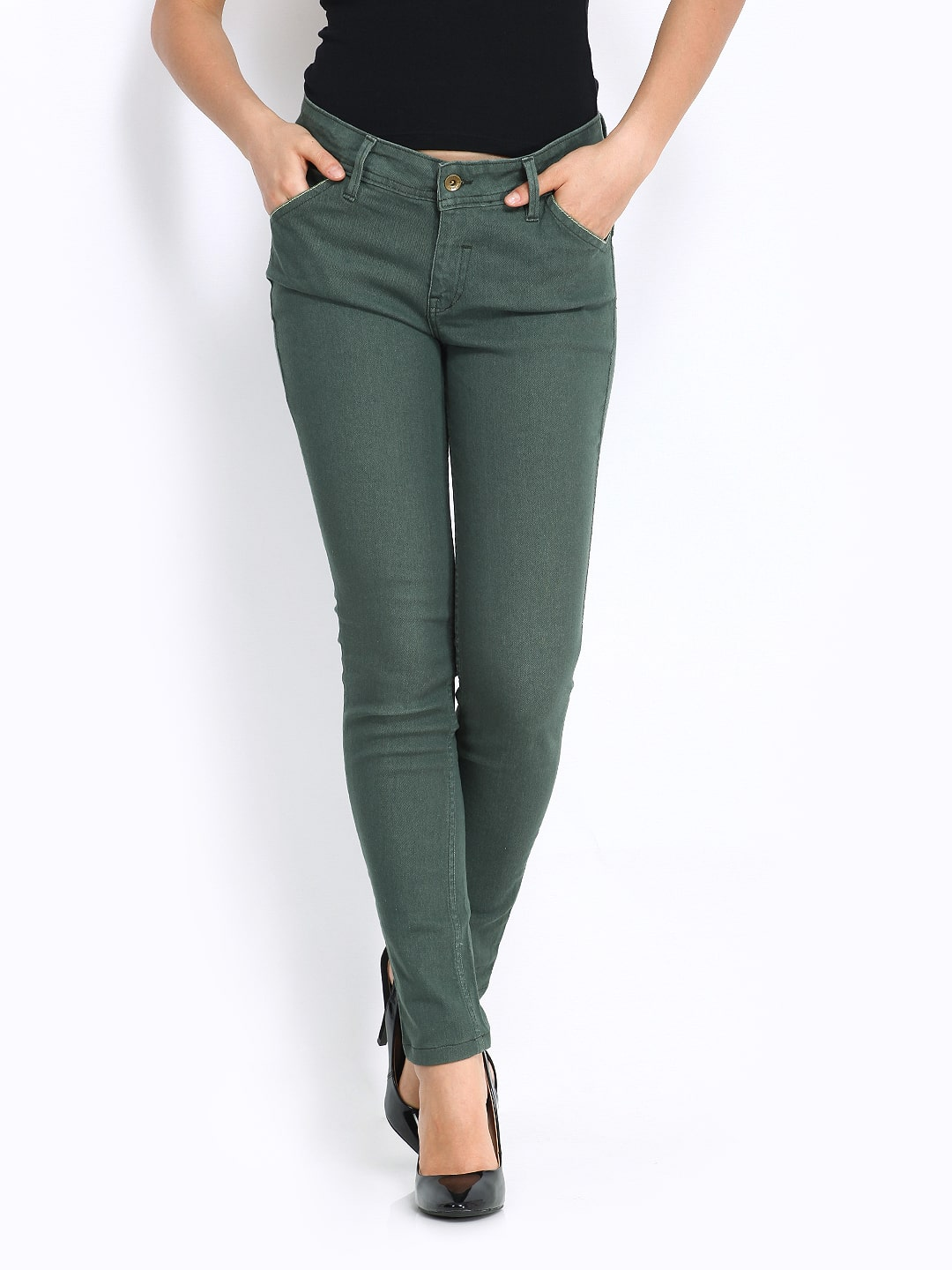 Free shipping BOTH ways on womens green jeans, from our vast selection of styles. Fast delivery, and 24/7/ real-person service with a smile. Click or call