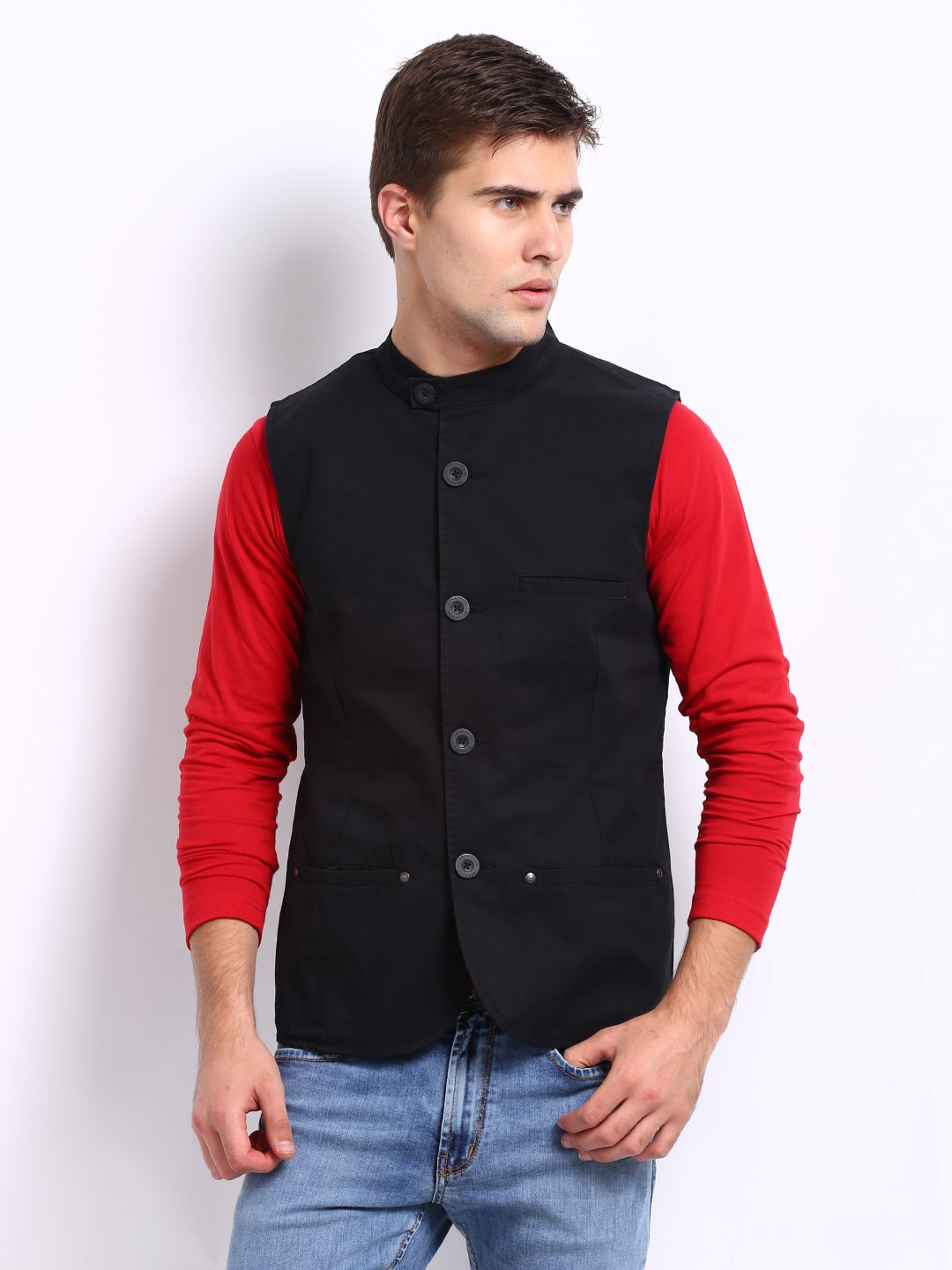 United colors of benetton sleeveless solid quilted jacket for United colors of benetton online shop outlet