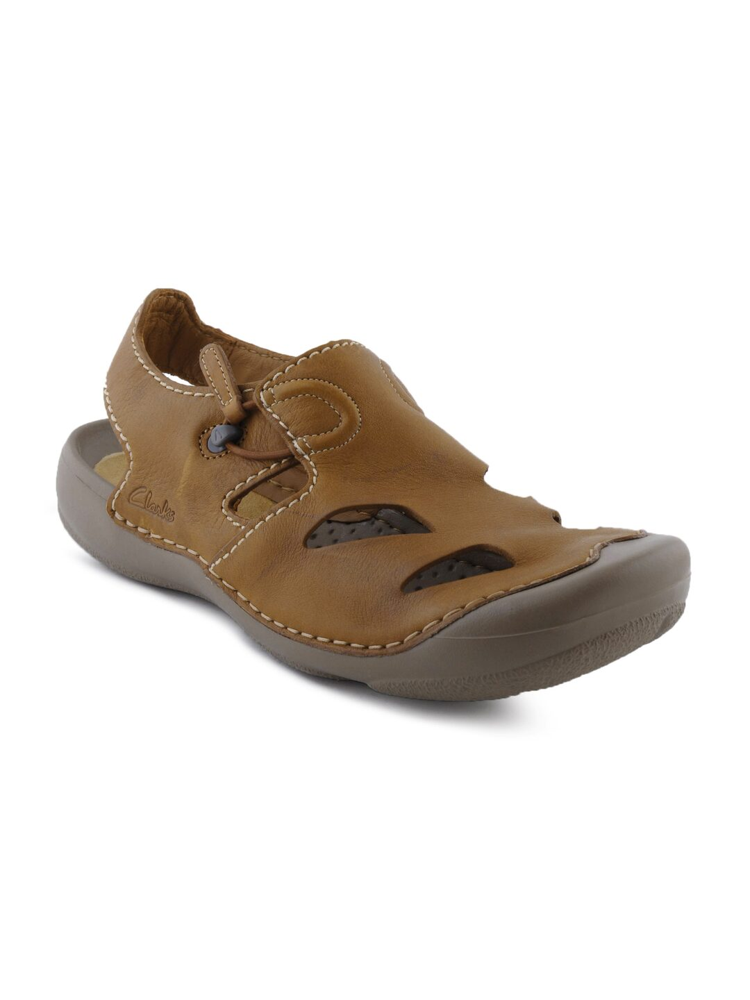 f3d642e86 Clarks 5050406017886 Chestnut Leather Sandals Floaters - Best Price ...