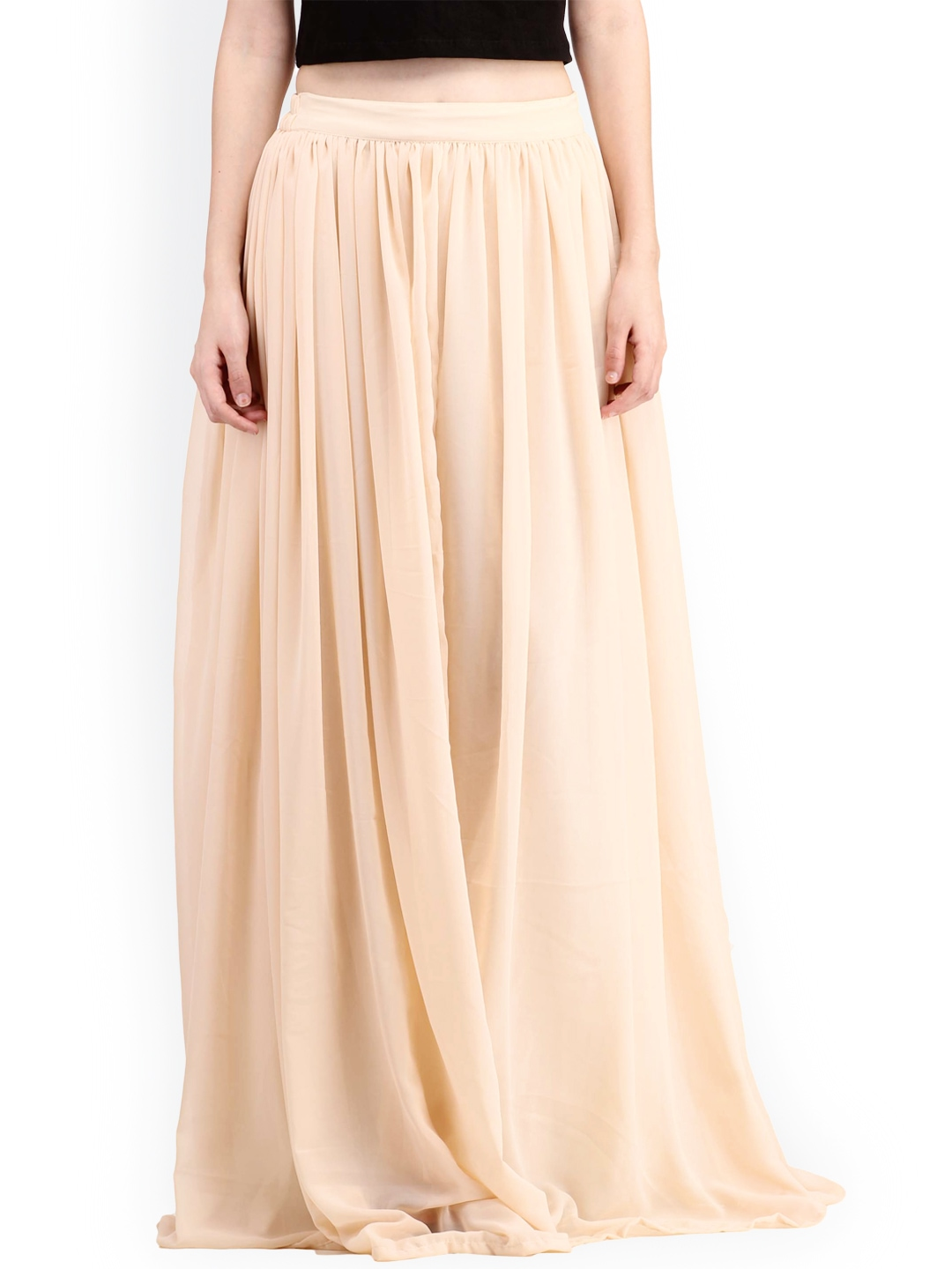 Buy Cation Beige Maxi Skirt - Skirts for Women | Myntra