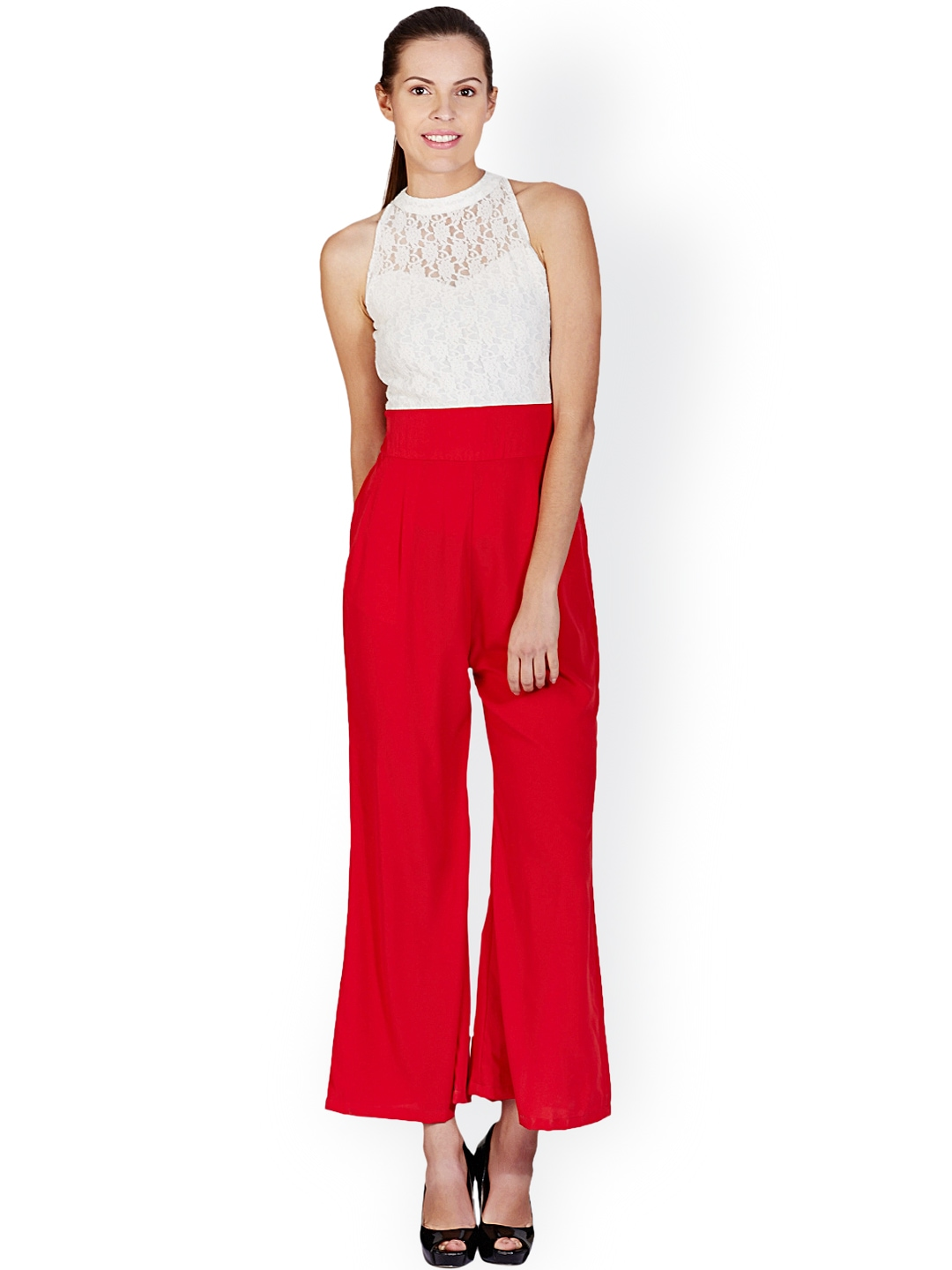 Buy Meee White & Red Jumpsuit - Jumpsuit for Women | Myntra
