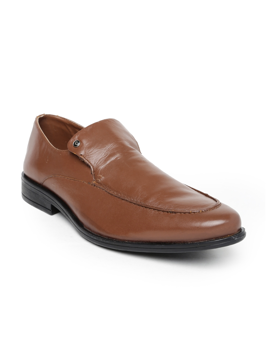 invictus brown leather formal shoes price myntra