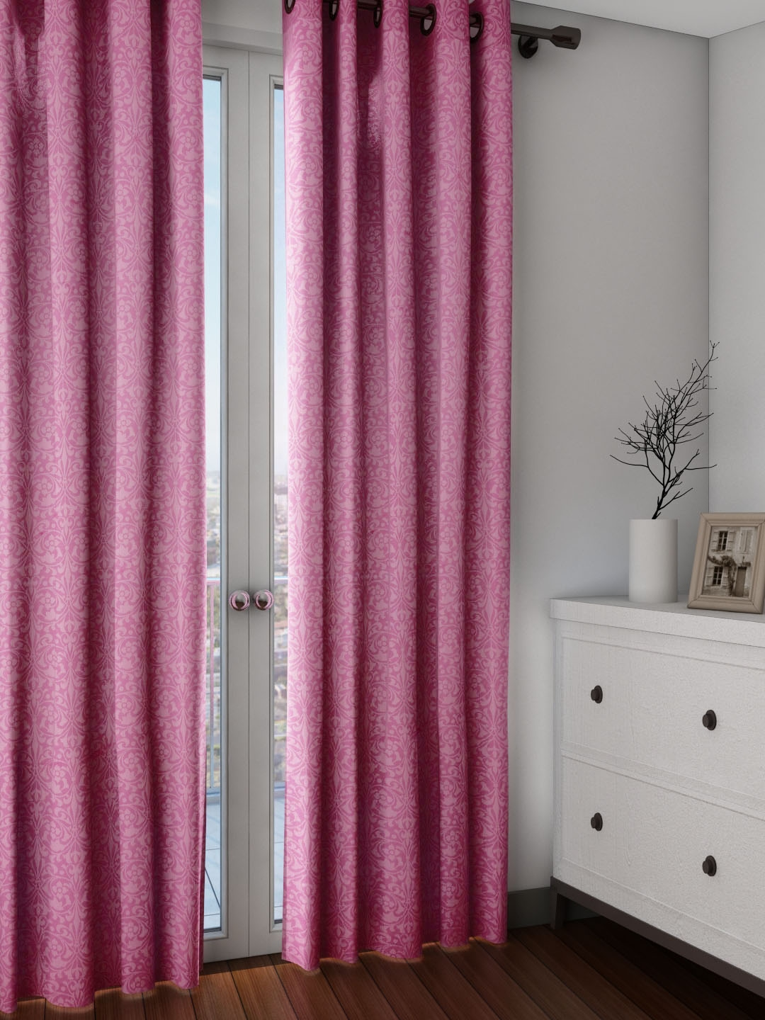 Long patterned curtains - Buy House This Purple Set Of 2 Patterned Regular Long Door Curtains Curtains And Sheers For Unisex Myntra