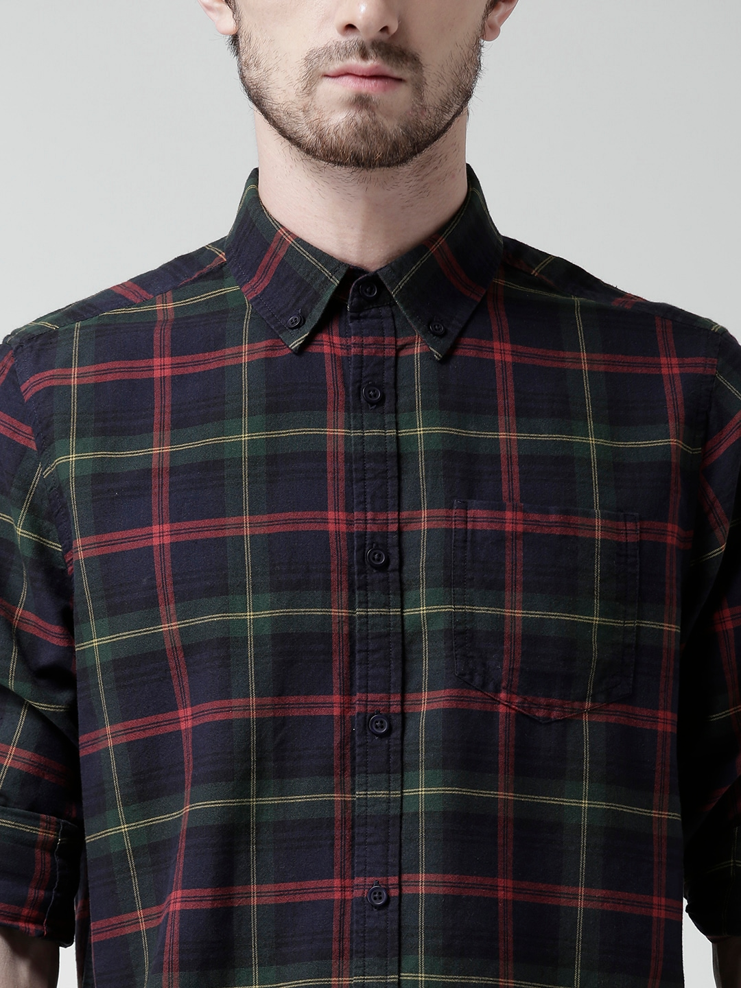 Shirt design new look - Buy New Look Navy Green Checked Casual Shirt Shirts For Men Myntra