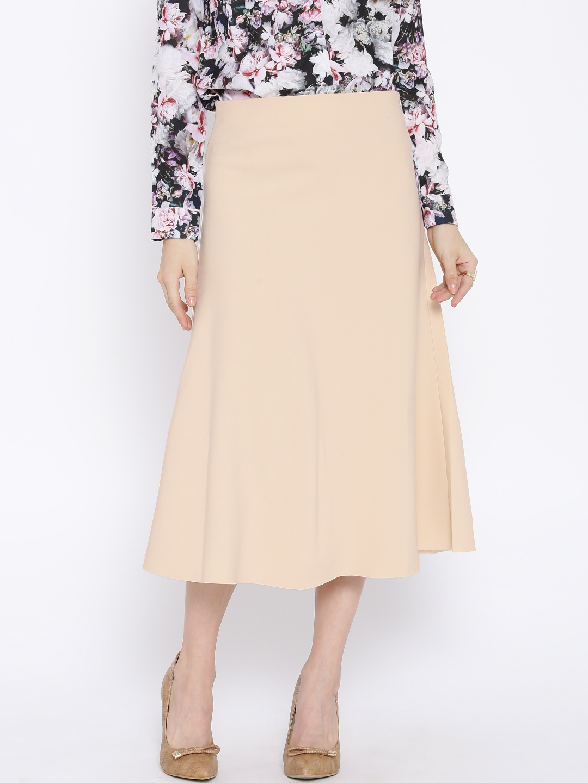 Buy KAARYAH Beige A Line Skirt - Skirts for Women | Myntra