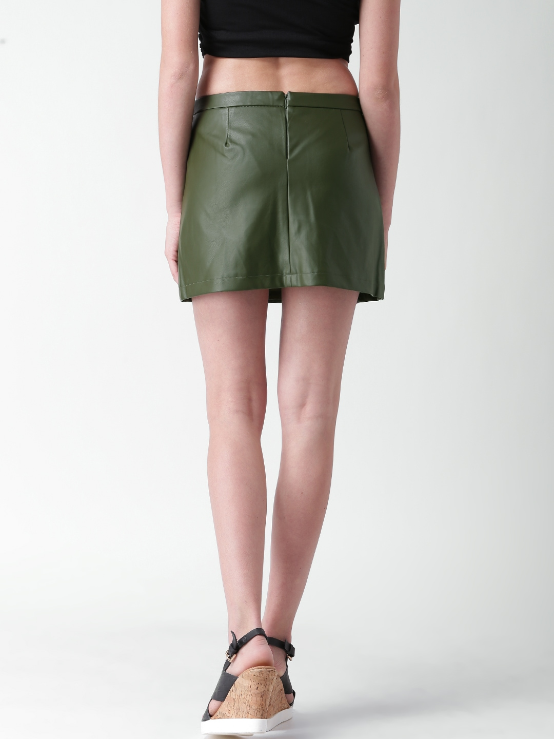 Buy FOREVER 21 Olive Green Mini Skirt - Skirts for Women | Myntra