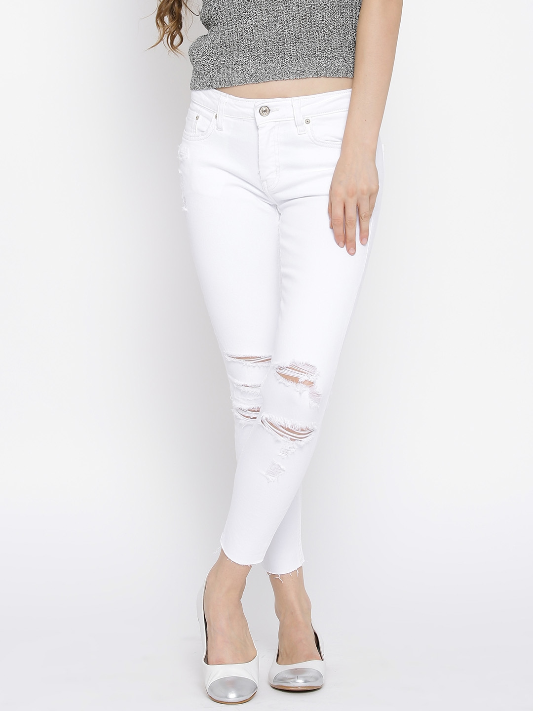 White Jeans For Women Online - Legends Jeans