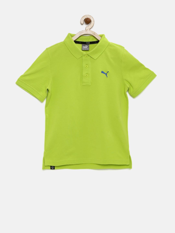 Puma Boys Green Polo T Shirt Price Myntra Polos T Shirt