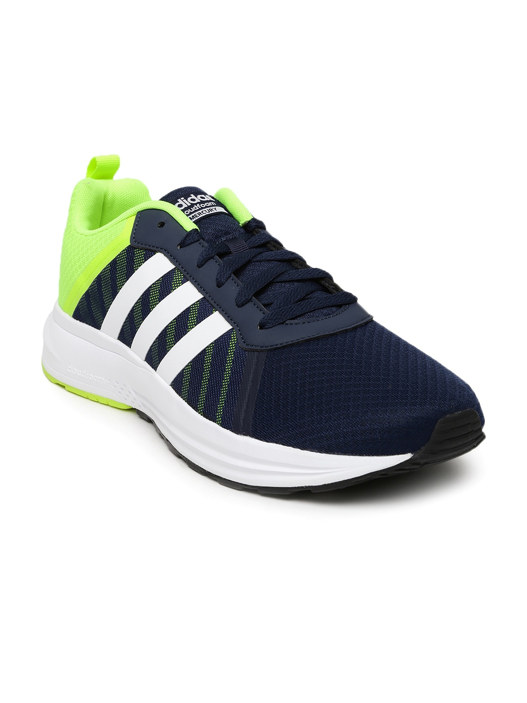 Adidas NEO Men Navy   Neon Green Cloudfoam Mercury Sneakers price Myntra.  Casual Shoes Deals at Myntra. Adidas NEO Men Navy   Neon Green Cloudfoam  Mercury ... 91bdcf010fc49