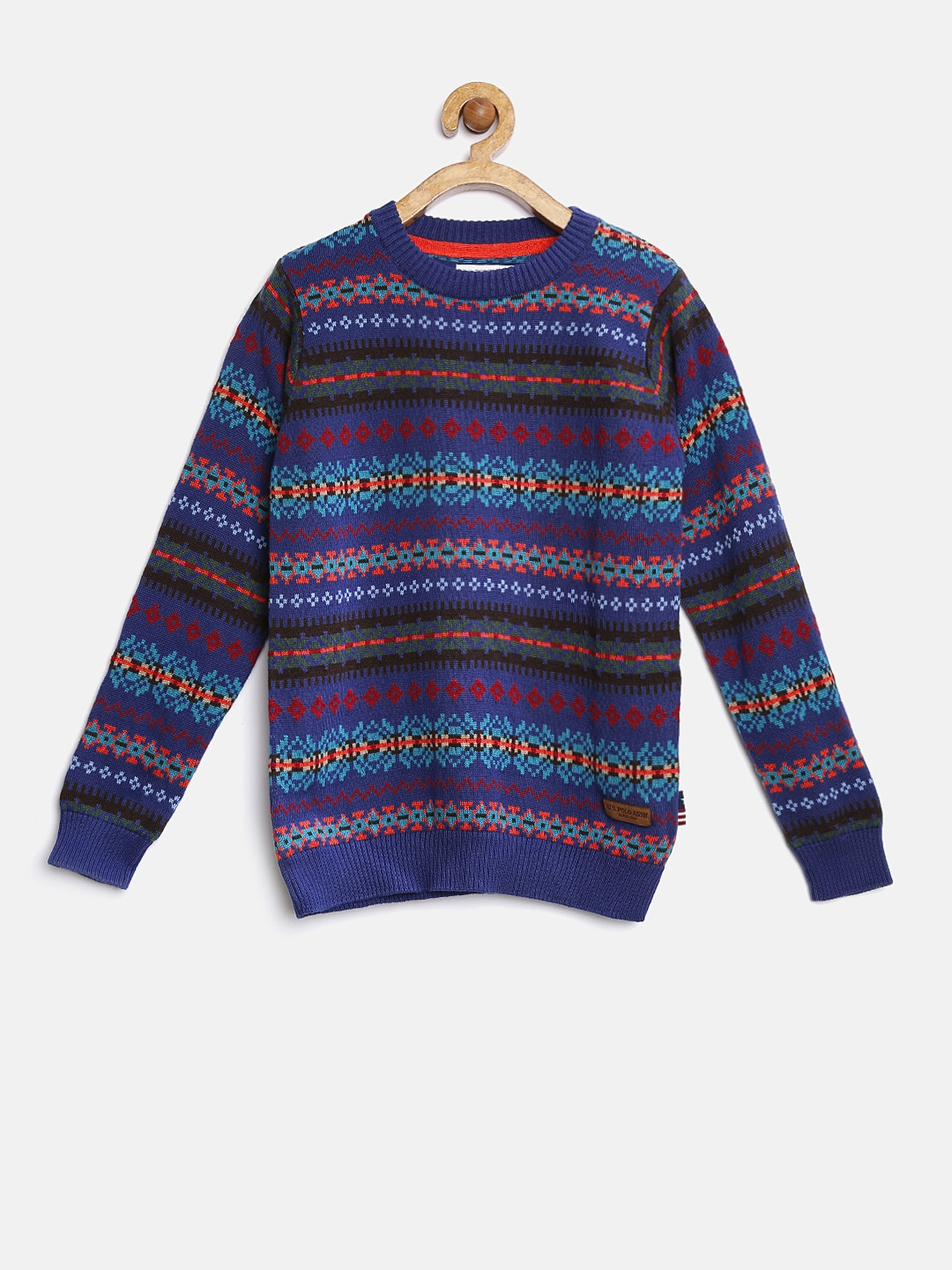Boy Olive Green Fair Isle Sweater by Gymboree. 55% cotton/25% viscose/20% nylon, Half-button placket, Allover knit texture, Features intarsia-knit design, Sherpa-lined collar, Ribbed collar, cuffs & hem and Machine wash; imported.