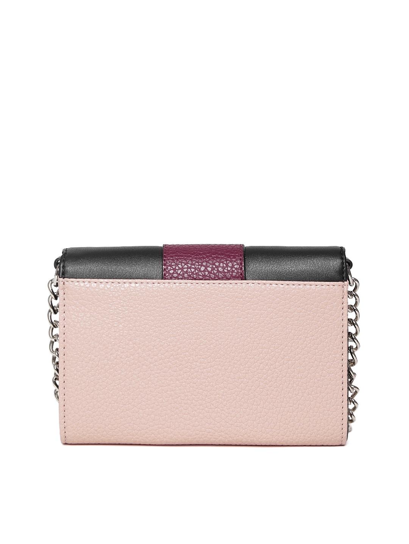 Sling bag nine west - Buy Nine West Dusty Pink Black Colourblocked Sling Bag Handbags For Women Myntra