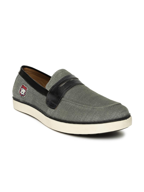 11c69900eded U.S. Polo Assn. Men Grey Solid Owen Slip-On Sneakers